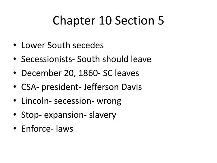 Chapter 10 section 52