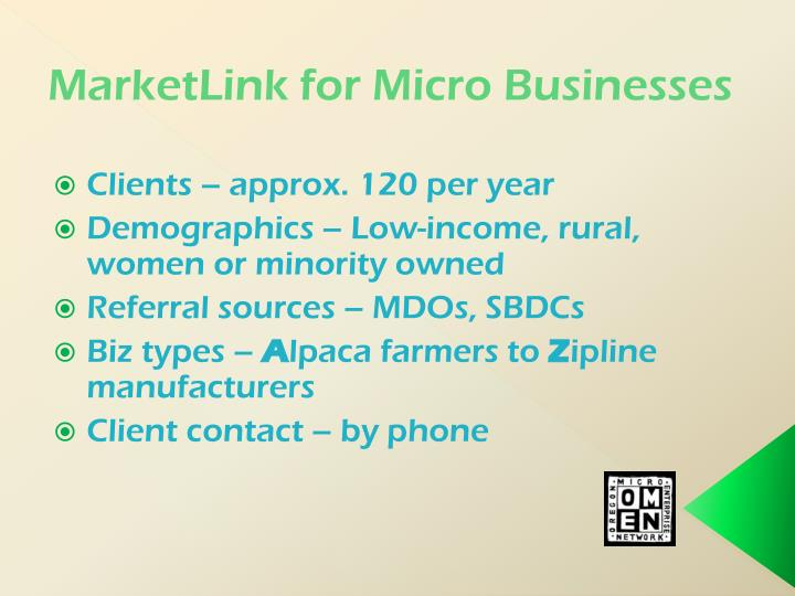 MarketLink for Micro Businesses