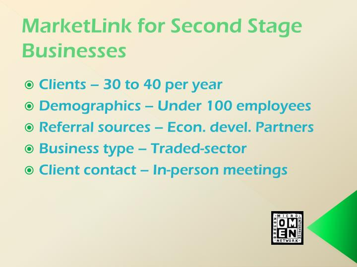 MarketLink for Second Stage Businesses