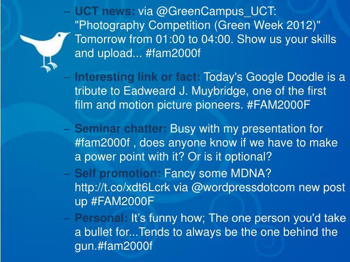 UCT news: