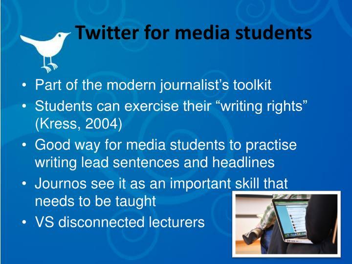 Twitter for media students