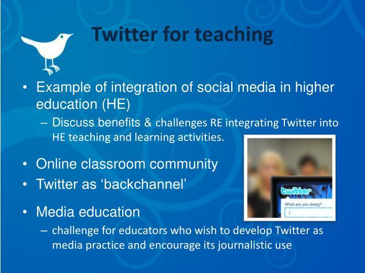 Twitter for teaching