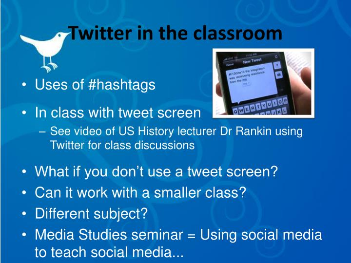 Twitter in the classroom