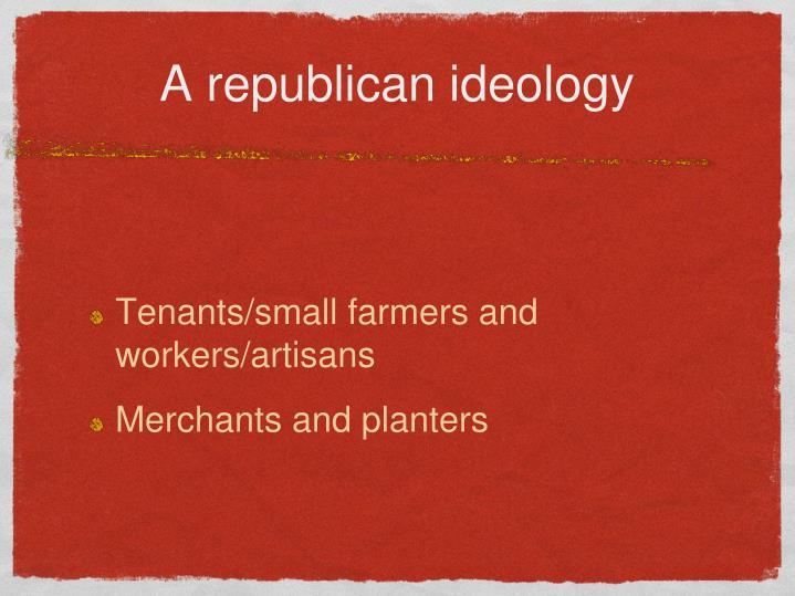 A republican ideology