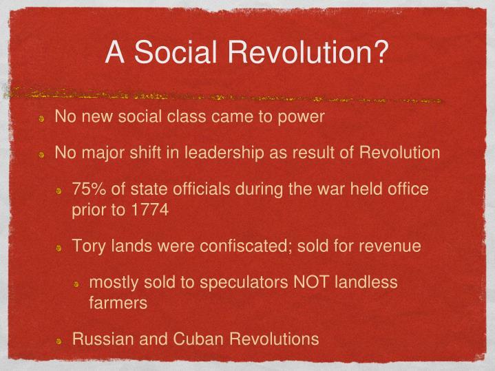 A Social Revolution?