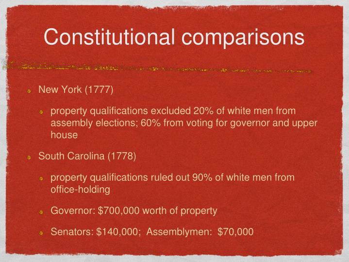 Constitutional comparisons