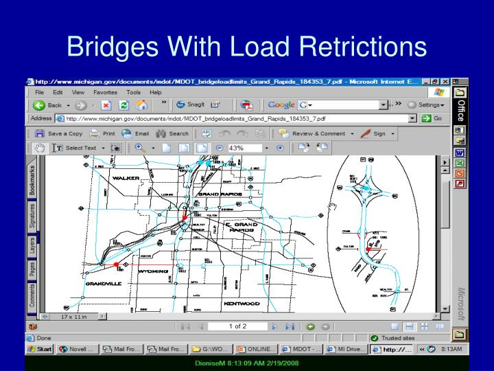 Bridges With Load Retrictions