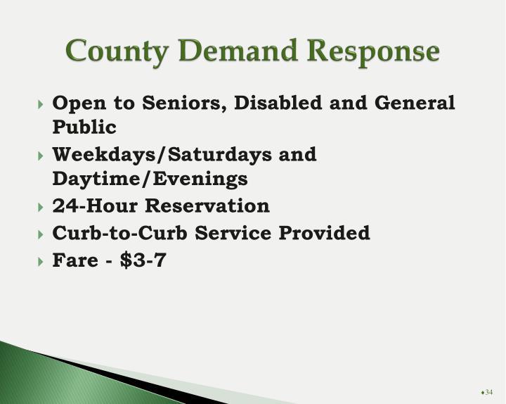 County Demand Response