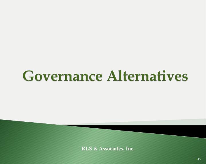 Governance Alternatives