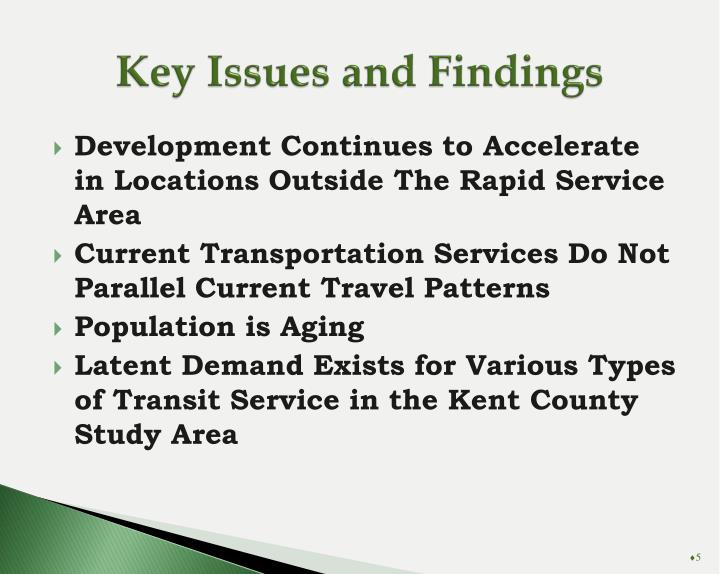 Key Issues and Findings