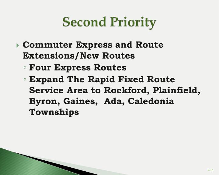 Second Priority