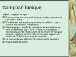 c ompos ionique