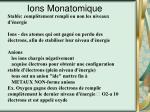 ions monatomique
