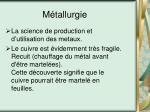 m tallurgie