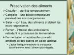 preservation des aliments