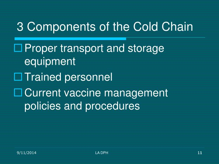 3 Components of the Cold Chain