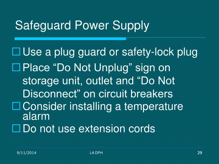 Safeguard Power Supply