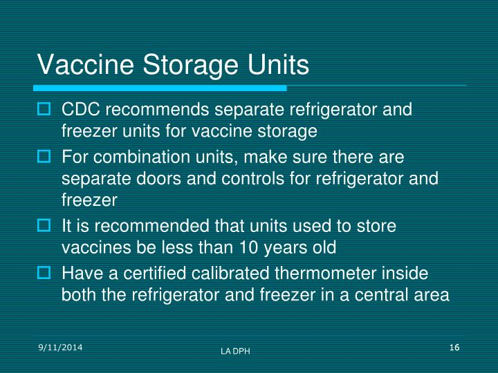 Vaccine Storage Units