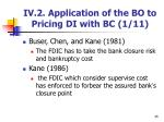 iv 2 application of the bo to pricing di with bc 1 11