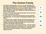 the carbon family