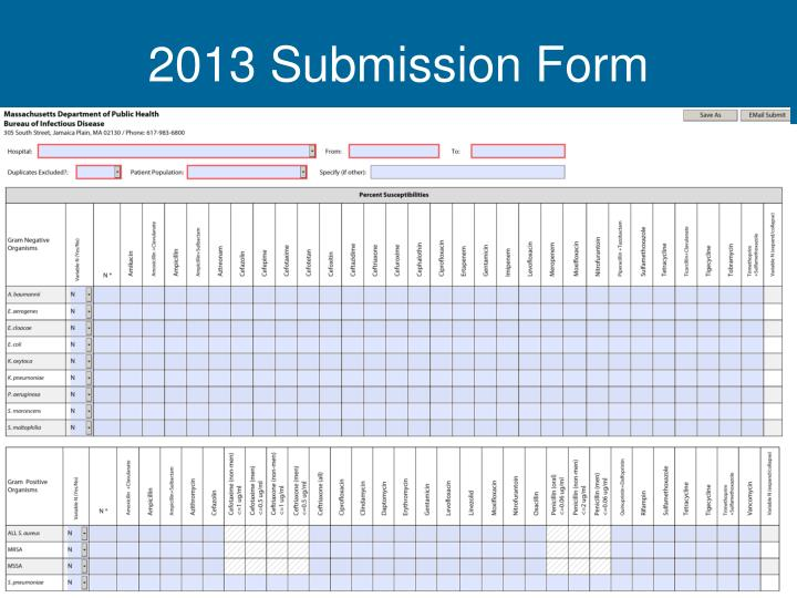 2013 Submission Form