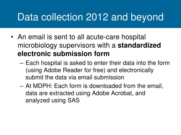 Data collection 2012 and beyond