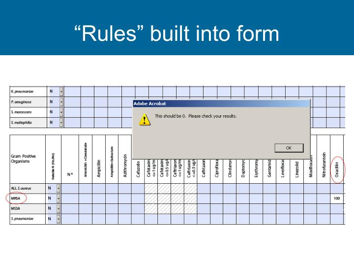 """""""Rules"""" built into form"""