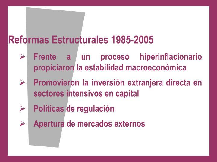 Reformas Estructurales 1985-2005