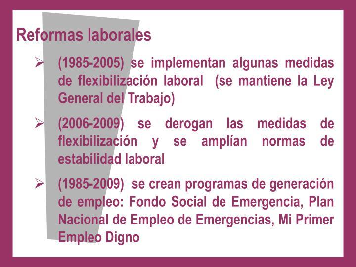Reformas laborales