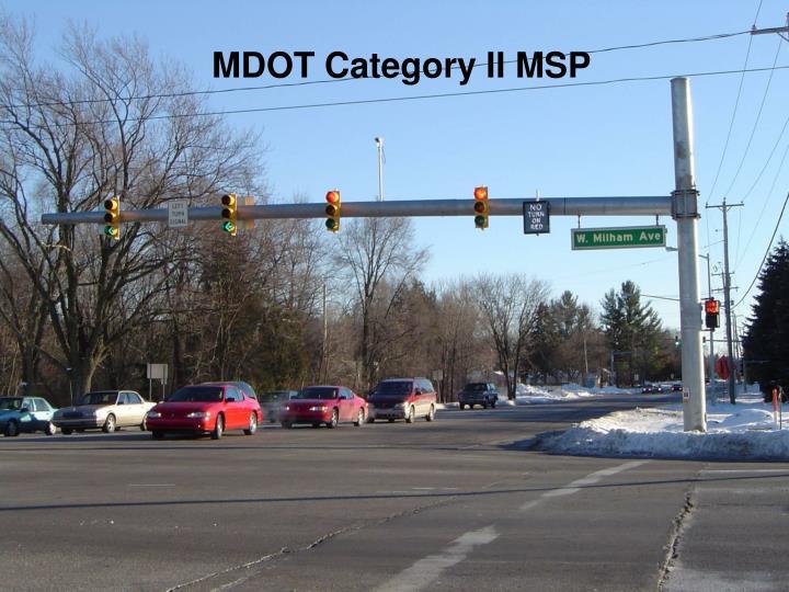 MDOT Category II MSP