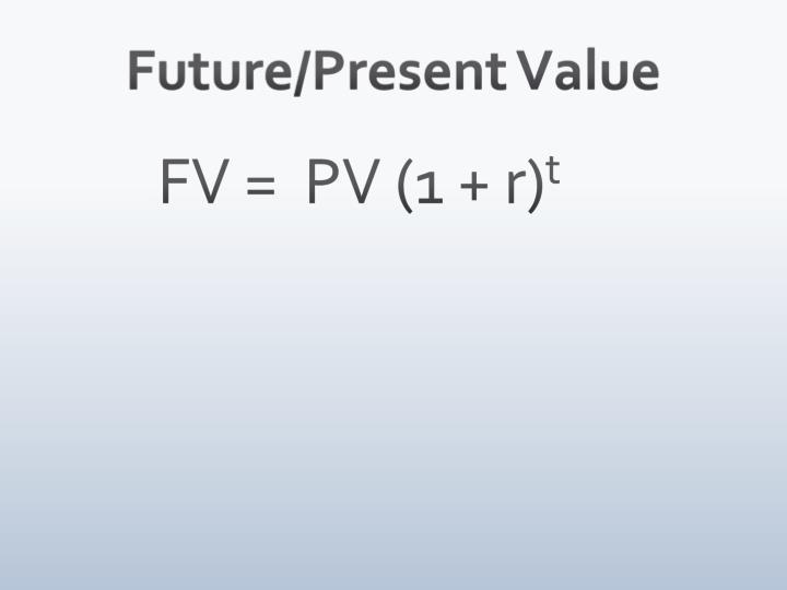 Future/Present Value