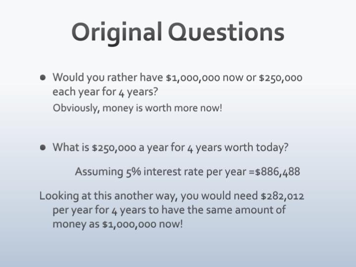 Original Questions