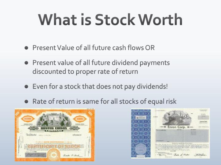 What is Stock Worth