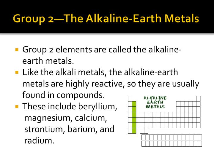 Group 2—The Alkaline-Earth Metals