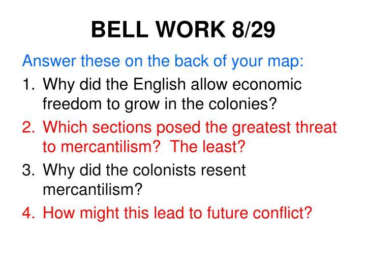BELL WORK 8/29