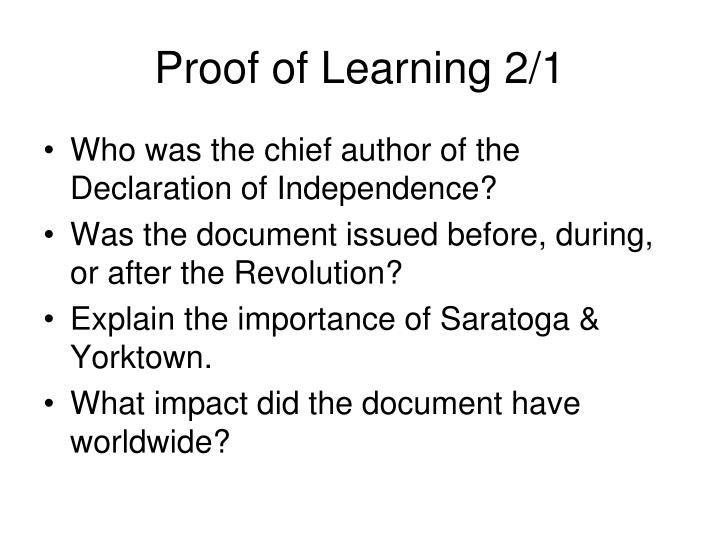Proof of Learning 2/1