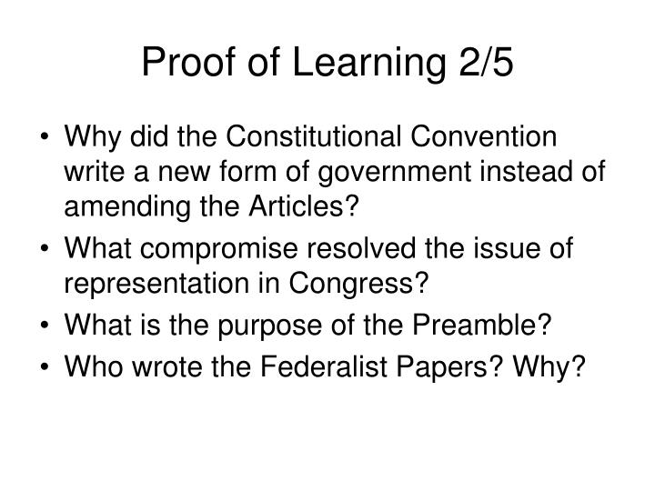 Proof of Learning 2/5
