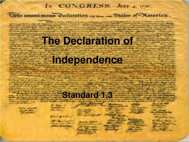The Declaration of