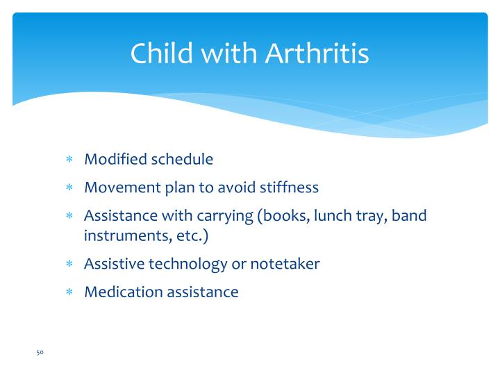 Child with Arthritis