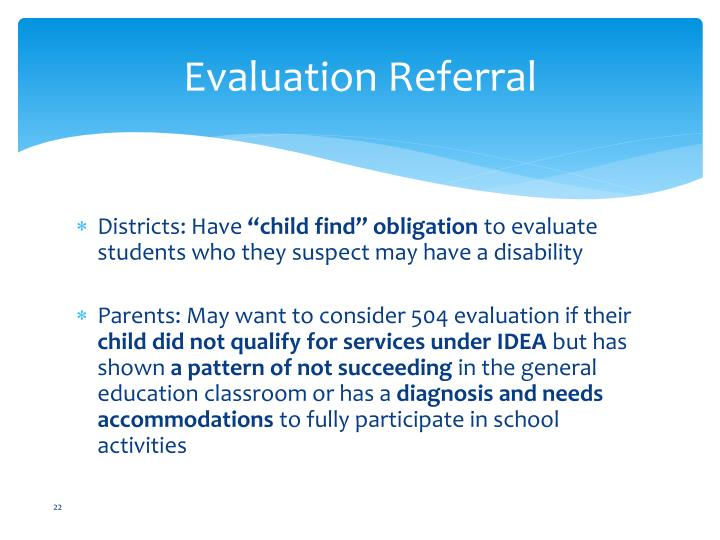 Evaluation Referral