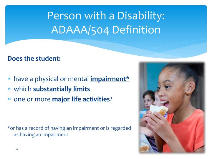 Person with a Disability: