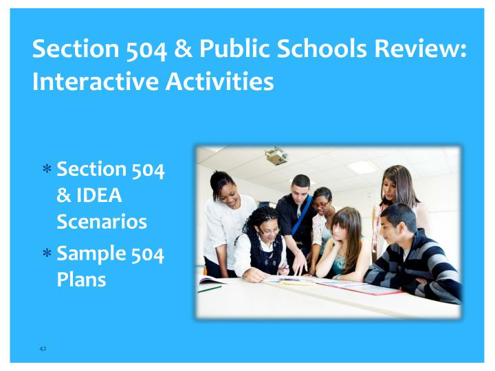 Section 504 & Public Schools