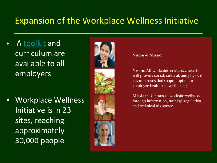 Expansion of the Workplace Wellness Initiative