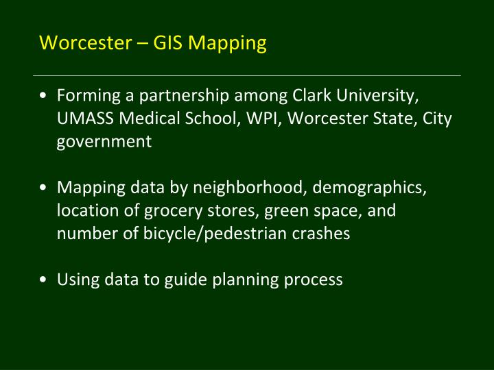Worcester – GIS Mapping