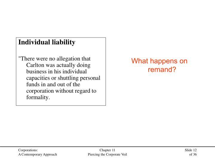 Individual liability