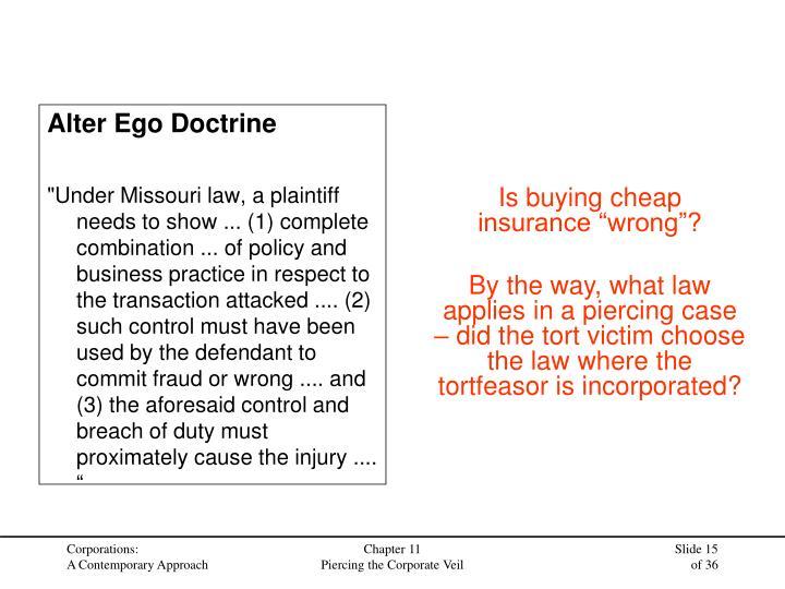 Alter Ego Doctrine