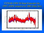 ccnas ann 24 hour forecasts for 1997 ann trained over 2001 data set