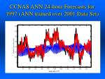 ccnas ann 24 hour forecasts for 1997 ann trained over 2001 data set1