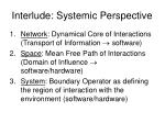 interlude systemic perspective