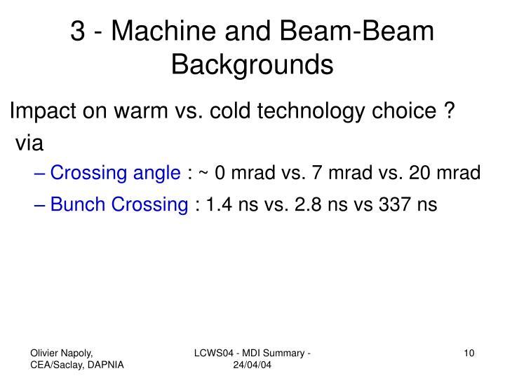 3 - Machine and Beam-Beam Backgrounds